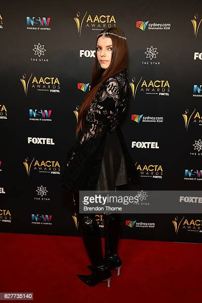 Sianoa SmitMcPhee arrives ahead of the 6th AACTA Awards Presented by Foxtel | Industry Dinner Presented by Blue Post at The Star on December 5 2016...