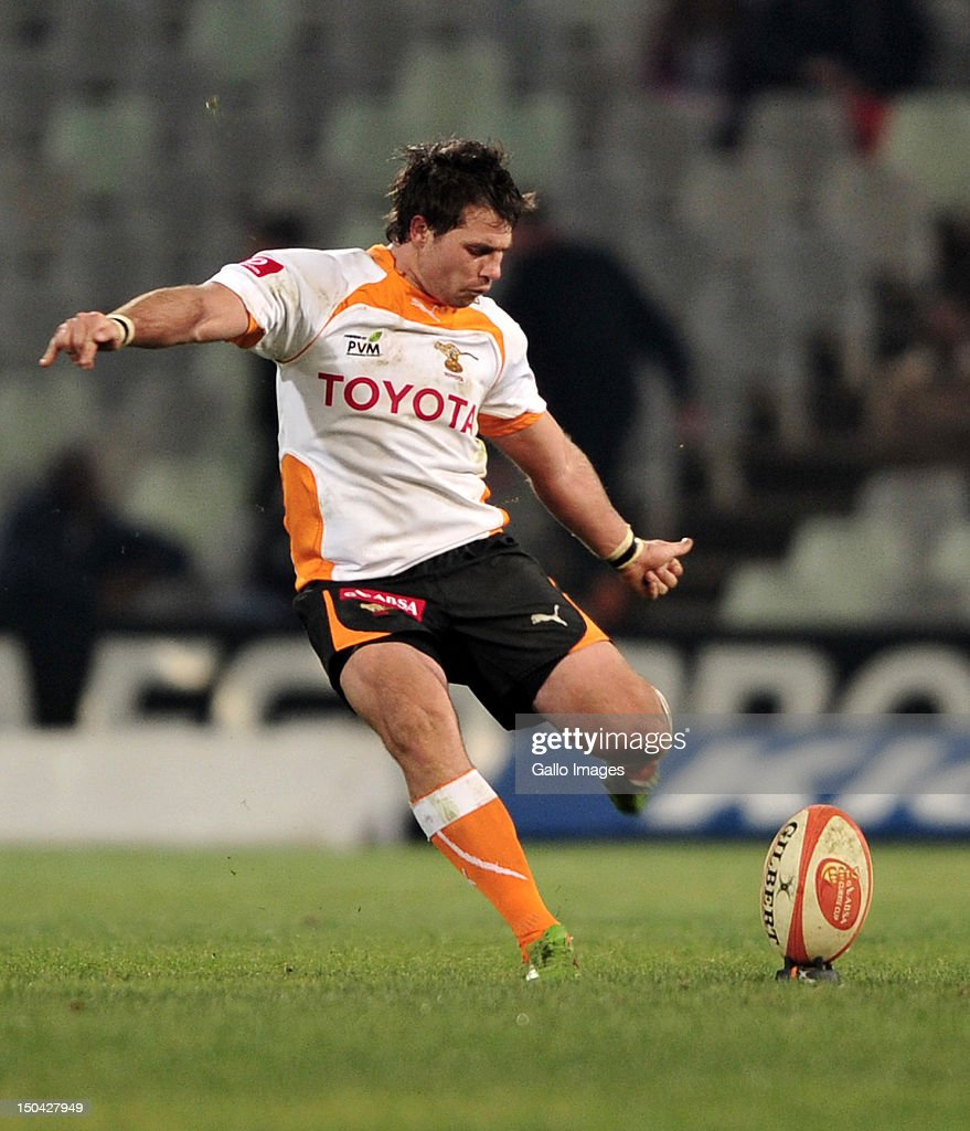 Sias Ebersohn of the Cheetahs during the Absa Currie Cup match between Toyota Free State Cheetahs and Vodacom Blue Bulls at Free State Stadium on August 17, 2012 in Bloemfontein, South Africa.