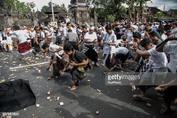 Siat Tipat Traditional Event at Bali held to celebrate full moon calendar at BadungBali and also for the safety for mount Agung to stay calm People...