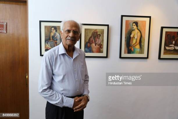 Sibal during an exhibition to celebrate the legacy of iconic artist Amrita SherGil and works by Hungarian artist Ildiko MorovszkiHalasz put on...