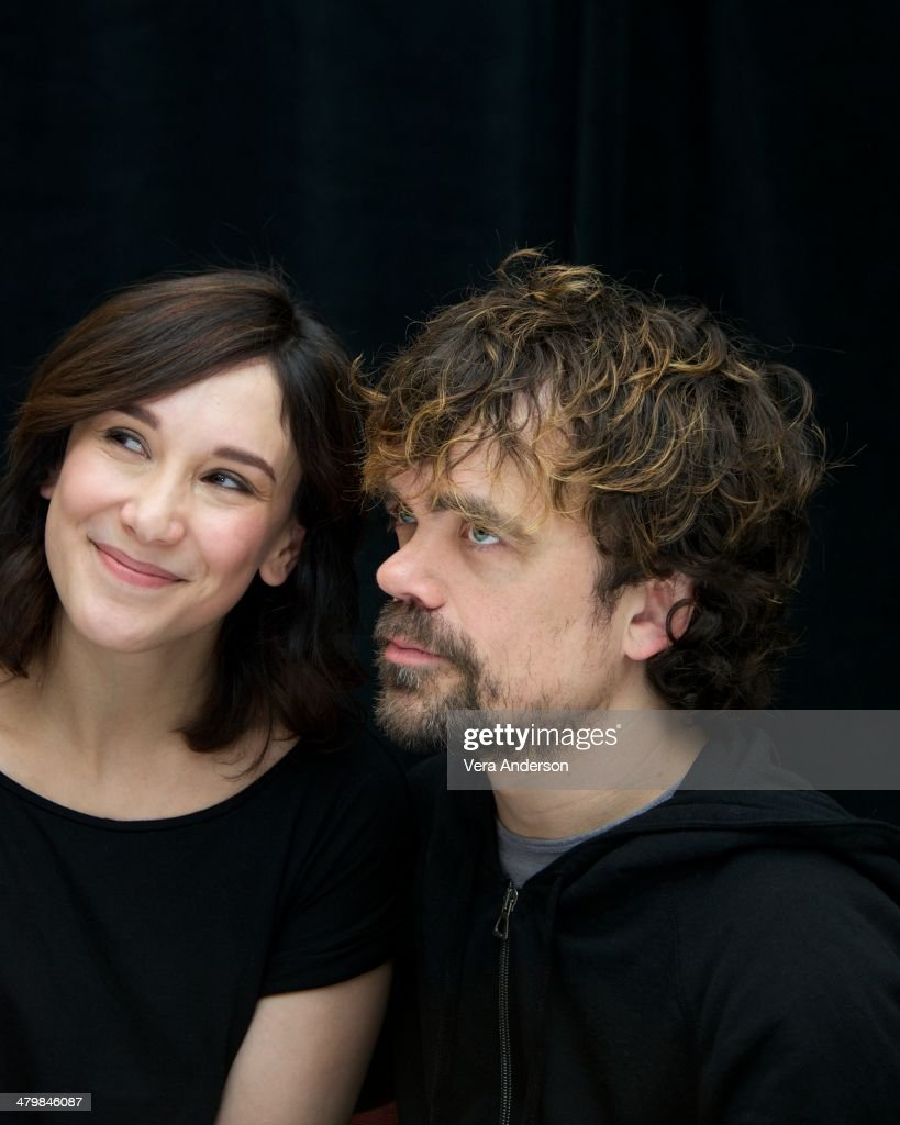 Sibel Kekilli and Peter Dinklage at the 'Game Of Thrones' Press Conference at The London Hotel on March 19 2014 in New York City