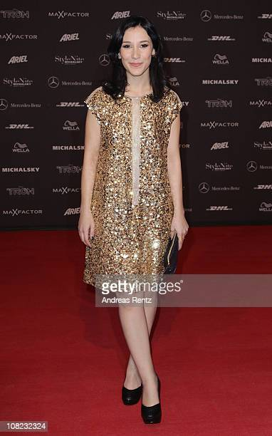 Sibel Kekilli arrives for the Michalsky StyleNite during the Mercedes Benz Fashion Week Autumn/Winter 2011 at Tempodrom on January 21 2011 in Berlin...