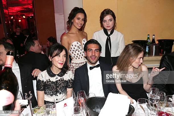 Sibel Kekilli Elyas M'Barek Jella Haase Gizem Emre and Nora von Waldstaetten during the 44th German Film Ball 2017 party at Hotel Bayerischer Hof on...