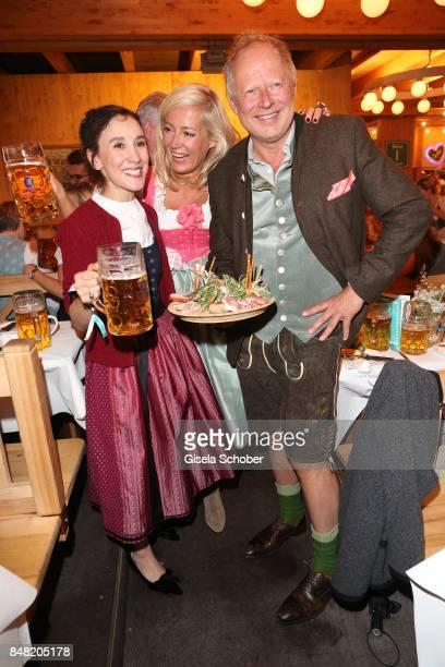 Sibel Kekilli Judith Milberg and her husband Axel Milberg during the 'Fruehstueck bei Tiffany' at Schuetzenfesthalle at the Oktoberfest on September...