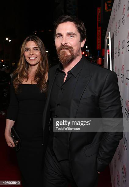 Sibi Blazic and Christian Bale attend the closing night gala premiere of Paramount Pictures' 'The Big Short' during AFI FEST 2015 at TCL Chinese...