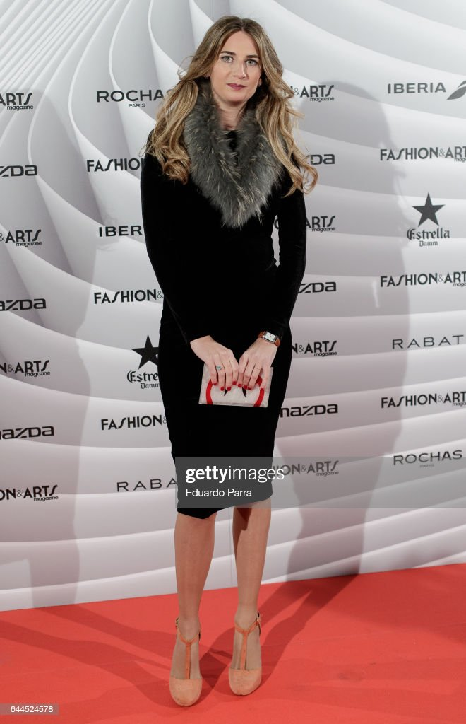 Sibi Montes attends the 'Fashion & arts' photocall at Reina Sofia museum on February 23, 2017 in Madrid, Spain.