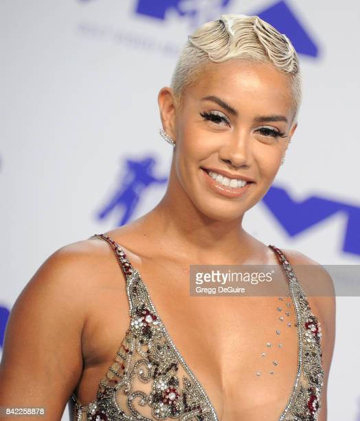 Sibley Scoles arrives at the 2017 MTV Video Music Awards at The Forum on August 27 2017 in Inglewood California
