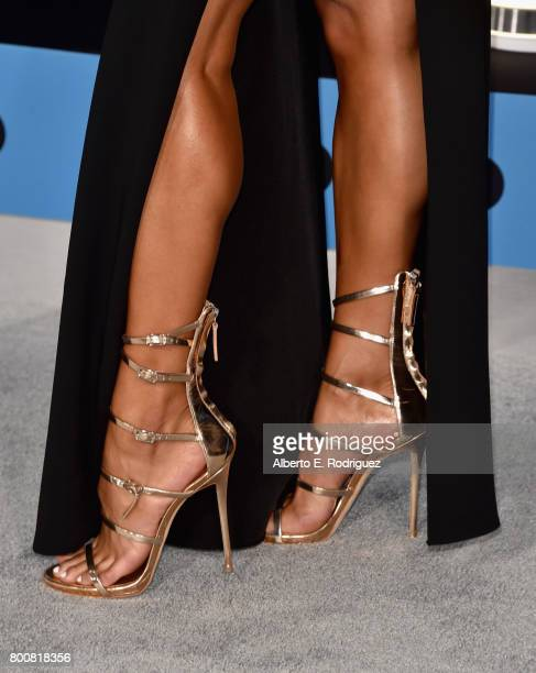 Sibley Scoles fashion detail at the 2017 BET Awards at Microsoft Square on June 25 2017 in Los Angeles California