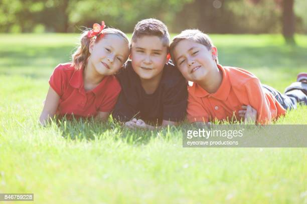 Sibling Children Late Summer Outdoor Family Fun