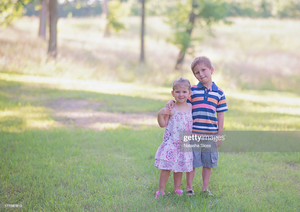 Sibling love : Stock Photo