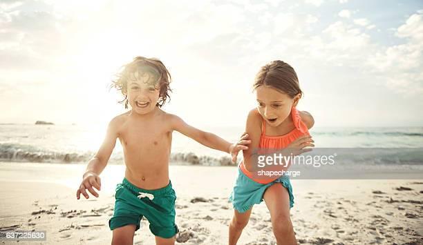 Siblings and summer fun