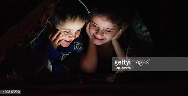 Siblings Having a Movie Night