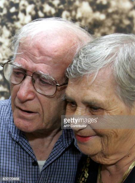 Siblings Hilda Shlick of Ashdod in southern Israel and Simon Glasberg of Ottawa are seen together at Yad Vashem Holocaust Museum complex in Jerusalem...