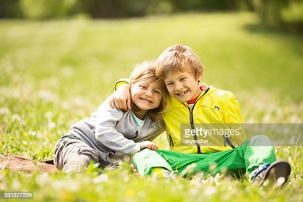 Siblings in nature.