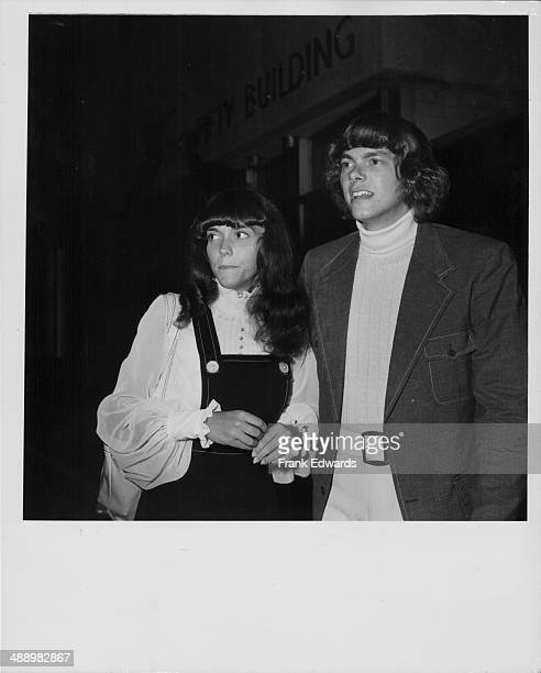 Siblings Karen and Richard Carpenter of the band 'Carpenters' attending a benefit in their honor organized by fellow musician Herb Alpert circa...