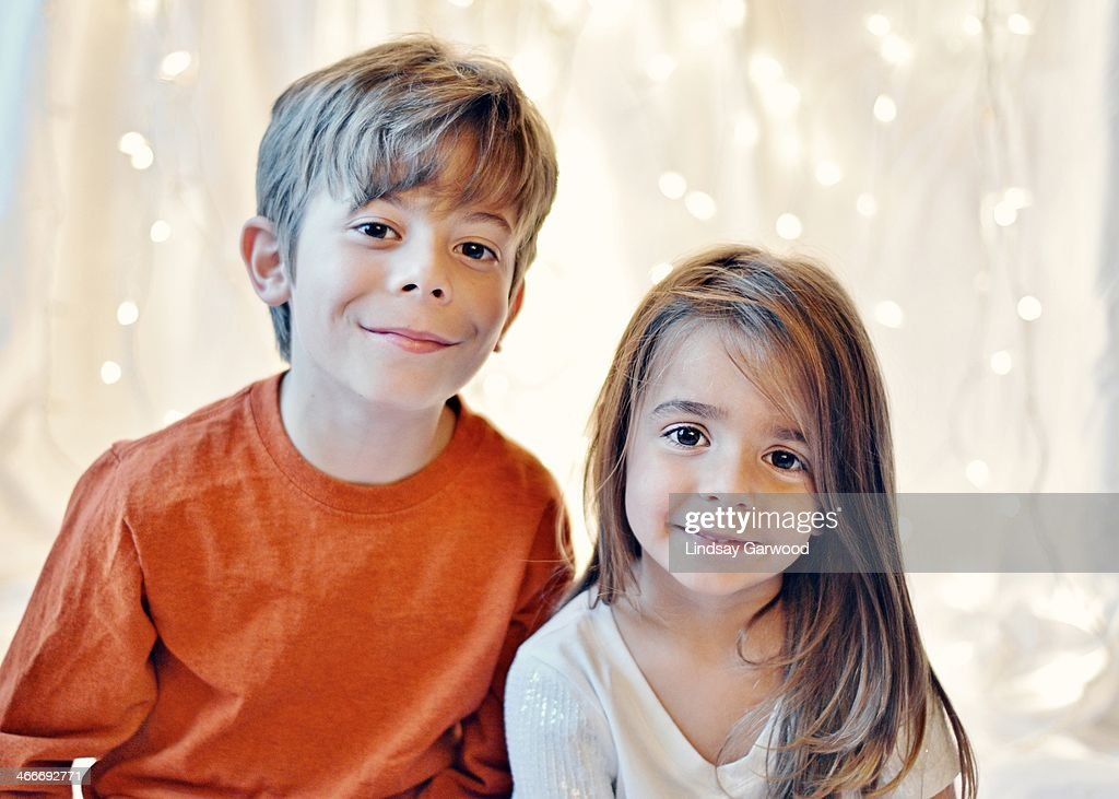 Siblings Portrait : Stock Photo