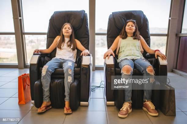 Siblings relax