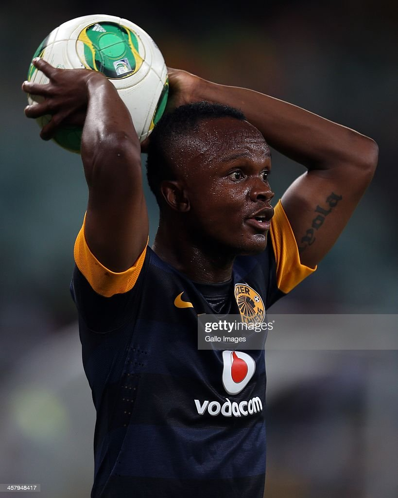 Siboniso Gaxa of Kaizer Chiefs during the Absa Premiership match between Golden Arrows and Kaizer Chiefs at Moses Mabhida Stadium on December 19 2013...