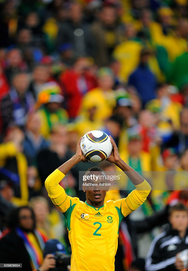 Siboniso Gaxa of South Africa takes a throw in