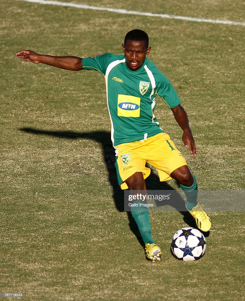 Sibusiso Hadebe during the Absa Premiership match between Golden Arrows and SuperSport United at Princess Magogo Stadium on April 28, 2013 in Durban, South Africa.