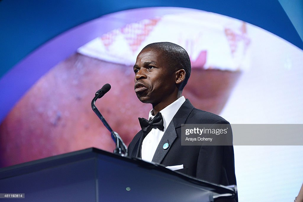 Sibusiso Shiba attends the 5th Annual Thirst Gala hosted by Jennifer Garner in partnership with Skyo and Relativity's 'Earth To Echo' at The Beverly Hilton Hotel on June 24, 2014 in Beverly Hills, California.