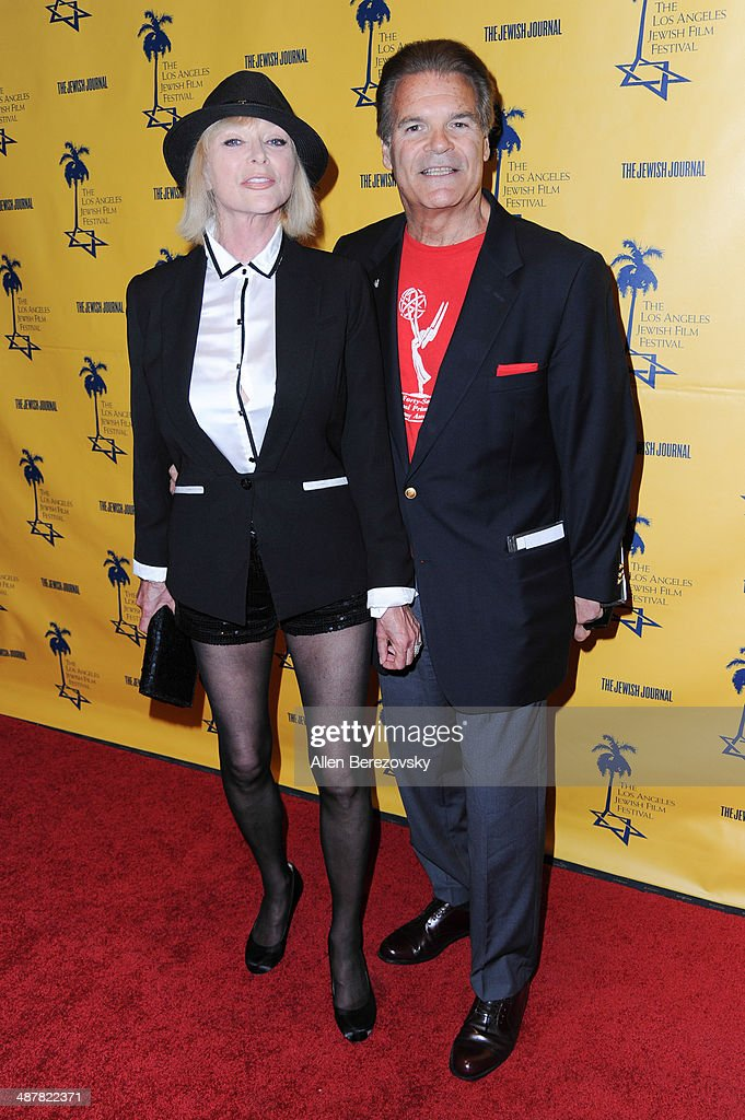 Sibyl Danning and Ed Lozzi arrive at the 9th Annual Los Angeles Jewish Film Festival Opening Night Gala honoring Carl Reiner with tributes at Saban Theatre on May 1, 2014 in Beverly Hills, California.