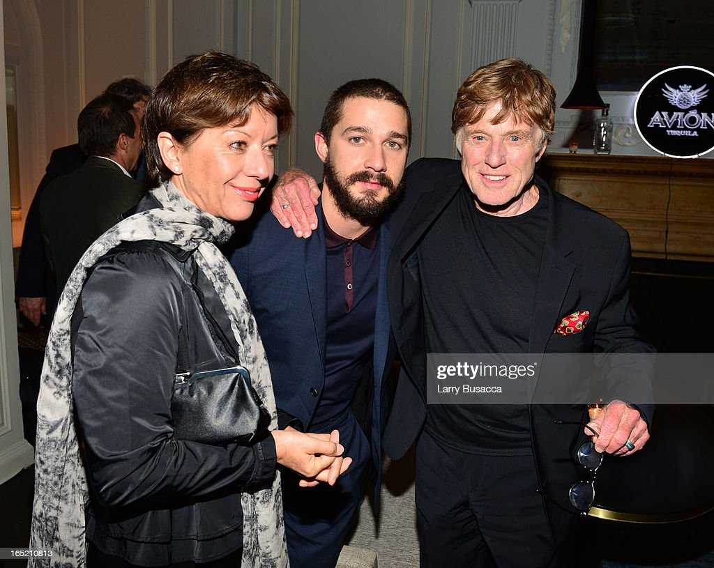 Sibylle Szaggars, actor Shia LaBeouf and director Robert Redford attend 'The Company You Keep' New York Premiere After Party at Harlow on April 1, 2013 in New York City.