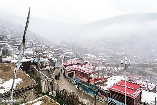 Sichuan Seda County la Rong temple Wu Ming Buddha College