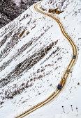 Sichuan-Tibet Highway on Queer Mountain