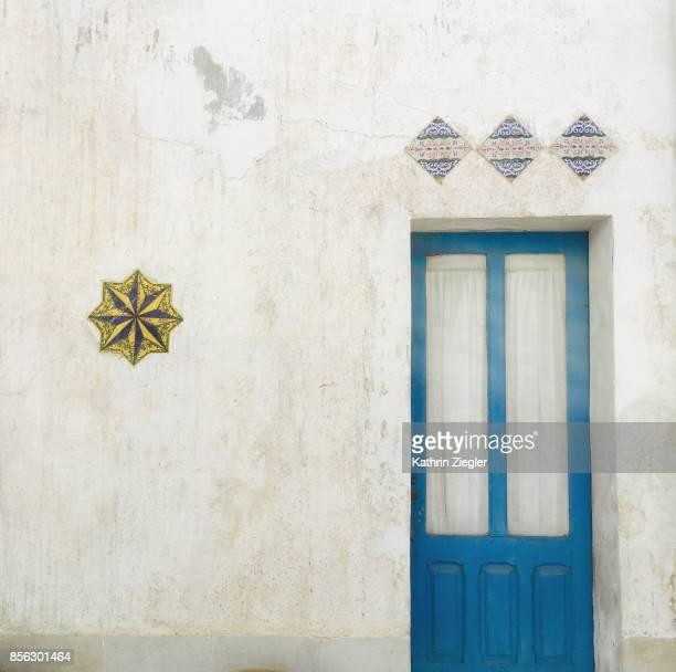 Sicilian house with blue door, San Vito lo Capo