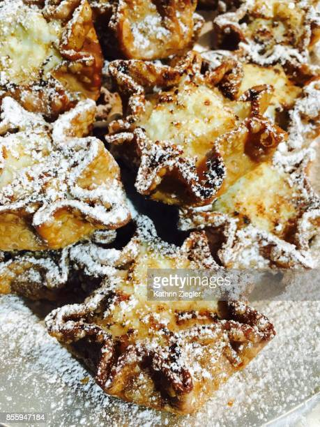 Sicilian sweets with ricotta and lemon zest