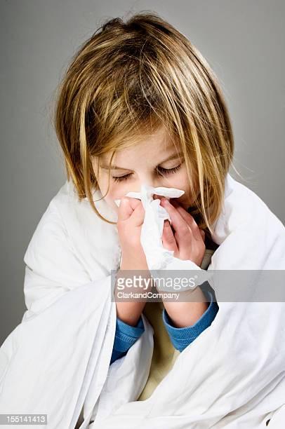 Kranken Kind Blasen Ihre Nase