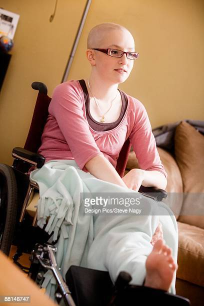 Sick girl in wheelchair
