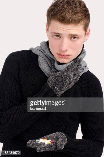 Sick, ill, cold : Stock Photo