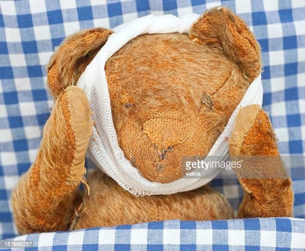 Peluche malade-kranker Teddybär