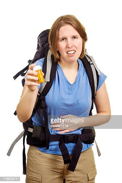 Sick Traveling Woman