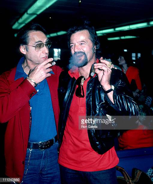 Sid Caesar and Robert Goulet during Gallery Hawaii Cocktail Party at Hyatt Regency Hotel in Waikiki Beach Hawaii United States