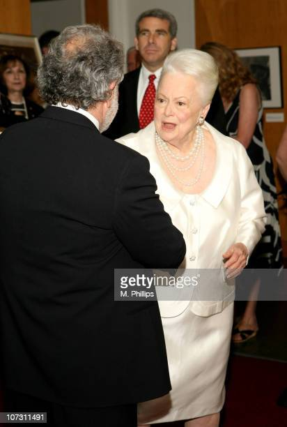 Sid Ganis and Olivia de Havilland during Academy of Motion Picture Arts and Science Presents Tribute to Olivia de Havilland at Academy of Motion...