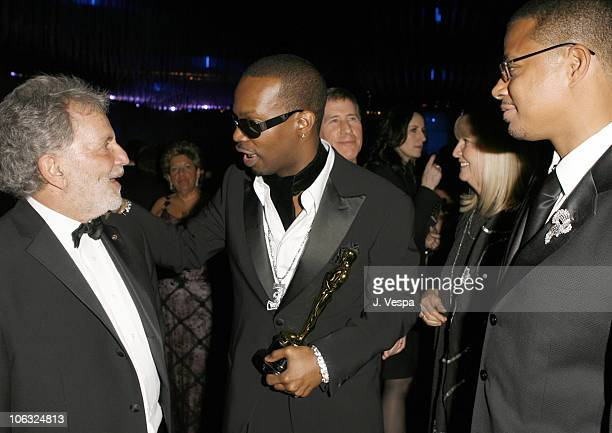Sid Ganis President of AMPAS Jordan Houston of Three 6 Mafia winner Best Song for 'It's Hard Out Here for a Pimp' from 'Hustle Flow' Terrence Howard...