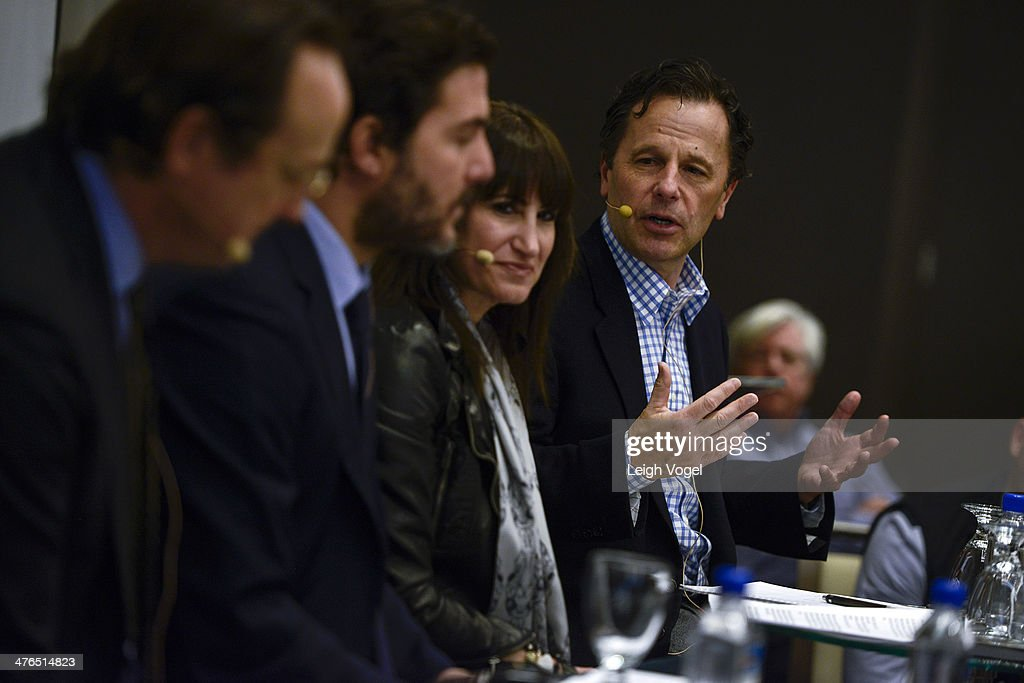 Sid Mashburn, Jesse Cole, Lisa Kline and Terry Brown speak during EDENS smART: The Art of Retail at Gansevoort Park Hotel on March 3, 2014 in New York City.