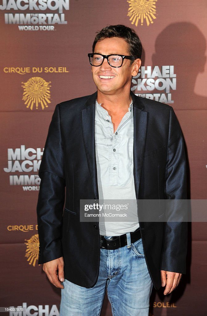 Sid Owen attends the opening night of Cirque Du Soleil's 'Michael Jackson The Immortal World Tour' at 02 Arena on October 12, 2012 in London, England.
