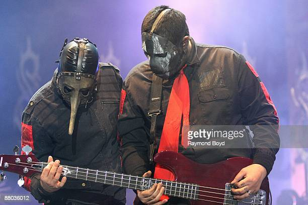 Sid Wilson and guitarist Paul Gray of Slipknot performs at Columbus Crew Stadium in Columbus Ohio on MAY 16 2009