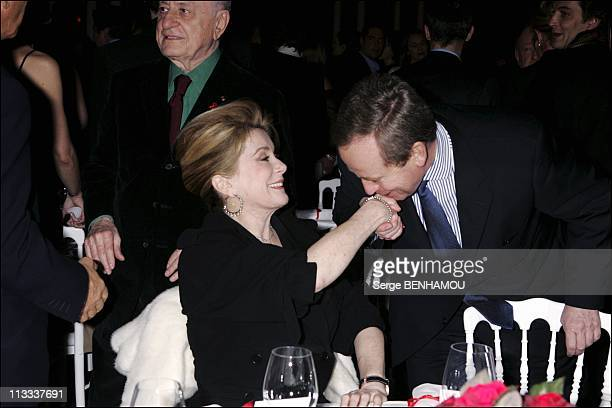 Sidaction Party In Paris On January 25Th 2006 In Paris France Here Catherine Deneuve And Renaud Donnedieu De Vabres
