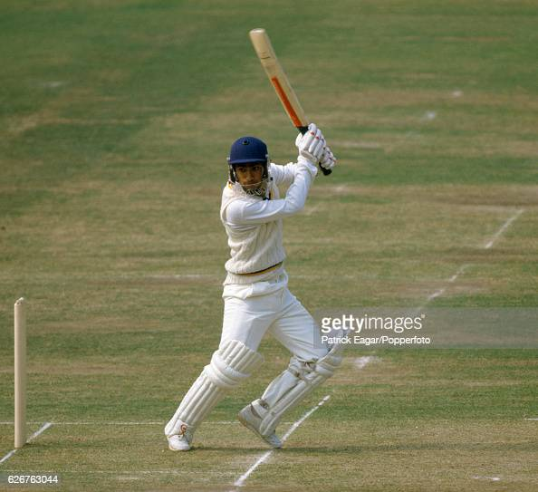 Sidath Wettimuny batting for Sri Lanka during his innings of 190 in the Only Test match between England and Sri Lanka at Lord's Cricket Ground London...