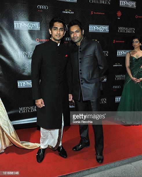 Siddharth and Rahul Bose attend 'Midnights' Chlildren' Post Screening Event 2012 Toronto International Film Festival on September 9 2012 in Toronto...