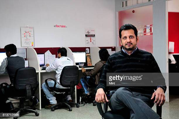 Siddharth Bhatia cofounder and COO of eTechies poses for profile shoot on January 16 2013 in New Delhi India