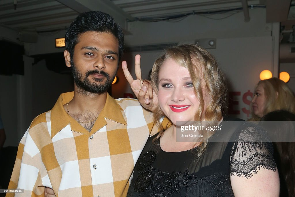 Siddharth Dhananjay and Danielle MacDonald attend the after party for the New York premiere of 'Pattii Cake$' at Metrograph on August 14, 2017 in New York City.