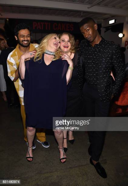 Siddharth Dhananjay Cathy Moriarty Danielle Macdonald and Mamoudou Athie attend 'Patti Cake$' New York After Party at The Metrograph on August 14...