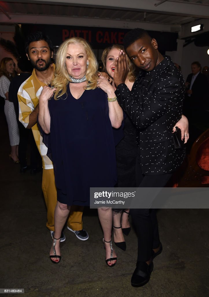 Siddharth Dhananjay, Cathy Moriarty, Danielle Macdonald and Mamoudou Athie attend 'Patti Cake$' New York After Party at The Metrograph on August 14, 2017 in New York City.