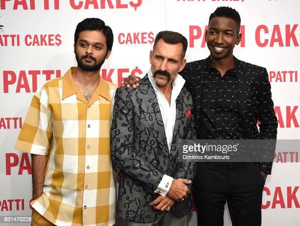 Siddharth Dhananjay Wass Stevens and Mamoudou Athie attend the 'Patti Cake$' New York Premiere at The Metrograph on August 14 2017 in New York City